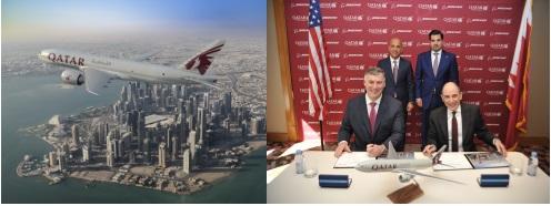 卡塔尔航空公司与波音签署关于购买5架777货机意向书