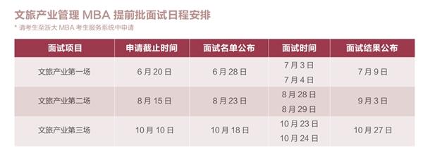 浙大文旅MBA报名开始,第二场专场面试申请8月15日截止